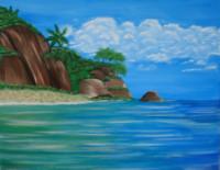 Tropical Ocean Cliff
