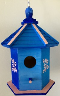 Stencil Birdhouse