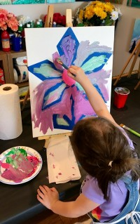 Taped Flower Canvas