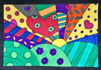 Romero Britto Sunrise