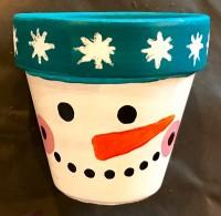 Snowman Pots