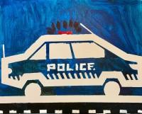 Taped Police Car