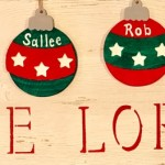 Rustic Family Ornaments