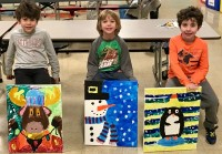 Three Holiday Canvases