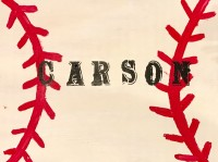Wood Name Baseball