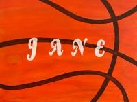 Wooden Basketball Sign