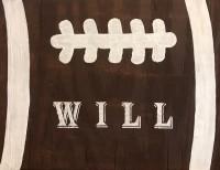 Wooden Football Sign